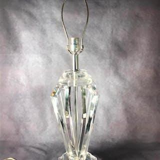 Lucite Table Lamp, Modern