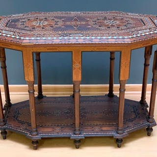 Moroccan Inlaid Table, 19th/20thc.