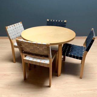 Aalvar Alto Table and Chairs