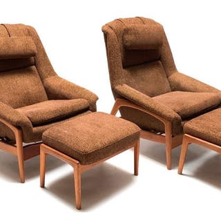Pair of Folke Ohlsson for Dux Lounge Chairs and