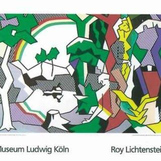 Roy Lichtenstein-Landscape with Figures and Rainbow