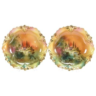 """Pair Berry Dishes, Unmarked R.S. Prussia 5.5"""""""