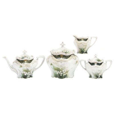 Four Piece Set, Marked R.S. Prussia