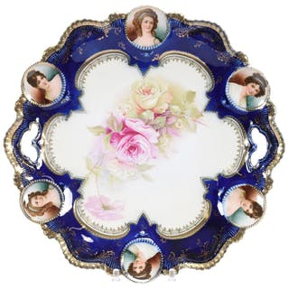"""Two Handled Cake Plate, Marked R.S. Prussia 11.25"""""""