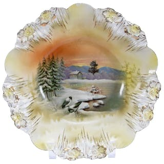 """Bowl, Marked R.S. Prussia 10.75"""""""