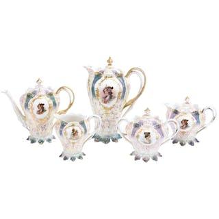 (5) Piece Tea Service, Unmarked R.S. Prussia