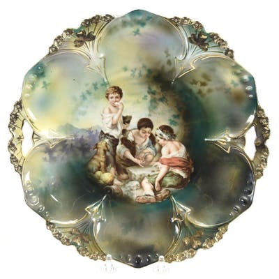 """Cake Plate, Marked R.S. Prussia 11"""""""