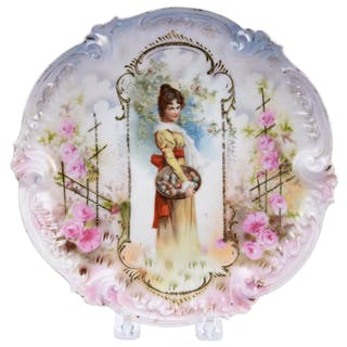 """Charmers Plate, Marked R.S. Prussia 8.5"""""""