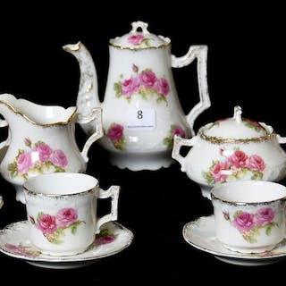 23-Piece Child's Tea Set Marked J.I.F. Paris