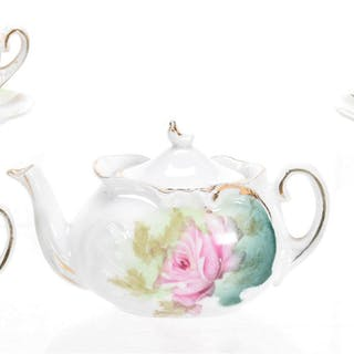 7-Piece Child's Tea Set, Unmarked Prussia