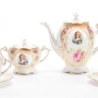 13-Piece Child's Tea Set, Unmarked Prussia