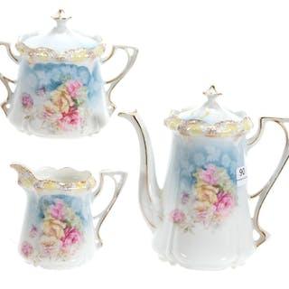 3-Piece Tea Set, Marked RSP, Stipple Mold