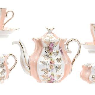 7-Piece Child's Tea Set, Floral Scene