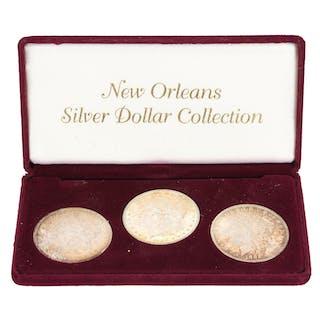 (3) Morgan Silver Dollar Coin Sets, 1883, 1884, 1885