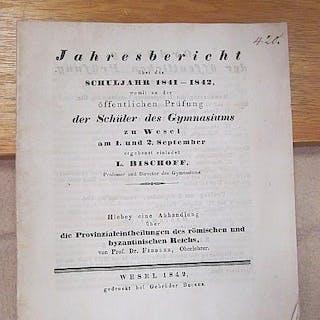 Jahresbericht über das Schuljahr 1841-1842 womit zu der...