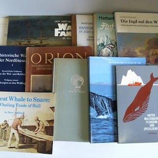 Sammlung von 10 Bänden (Walfang)