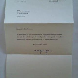 Mehrzeiliger Brief mit Original-Signatur Augstein, Rudolf