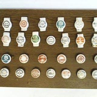 Sammlung von 26 verschiedenen Keramik-Flaschenverschlüßen...
