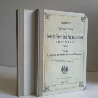Verzeichnis der Leuchtfeuer und Signalstellen aller Meere 1930