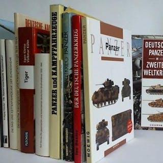 Sammlung von 14 verschiedenen Bänden (Panzer-Waffe)