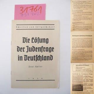 Die Lösung der Judenfrage in Deutschland