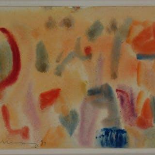 Abstraktes Aquarell. Hennig, Albert