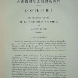 La cours de Hué et les principaux services du Gouvernement Annamite