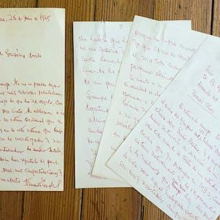 Two manuscript letters to Gonzalez Arrili Armando Tagle