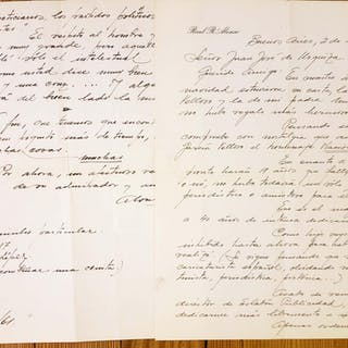 Two Manuscript letters to Jose de Urquiza Raul Alonso