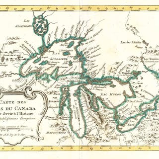 'Carte Des Lacs Du Canada Pour servir à l'Histoire des Etablissemens Européens
