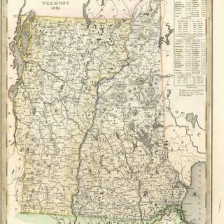 'Neueste Karte von New Hampshire und Vermont 1851'