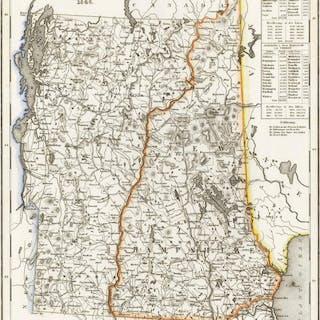 'Neueste Karte von New Hampshire und Vermont 1846.'