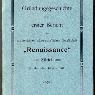 Gründungsgeschichte und erster Bericht der akademischen...