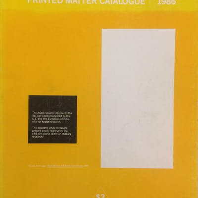 Printed Matter Catalogue 1986 Phillpot Clive etc.