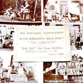 The Gadgets - Six Picture Postcards in original envelope