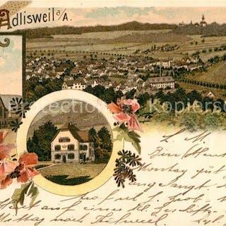 Postkarte Carte Postale 13558958 Adliswil Panorama Kirche Gasthaus Adliswil   Bz