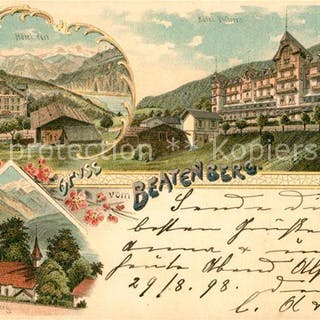 Postkarte Carte Postale 13559871 Beatenberg Hotel Post St...