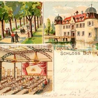 Postkarte Carte Postale 13559724 Bottmingen Schloss Allee...