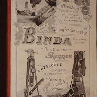 Binda : Catalogue des appareils et fournitures pour la photographie