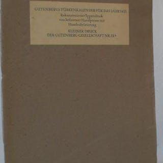 Gutenbergs Türkenkalender für das Jahr 1455