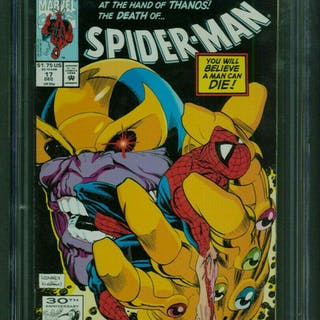 Spider-Man 17 CGC 9.8 White Pages Marvel Comics 1991...