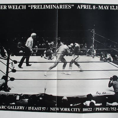 Roger Welch Preliminaries (signed by artist) Welch, Roger Ephemera