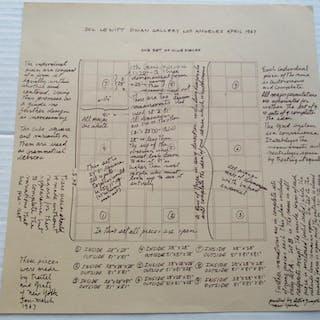 Sol Lewitt: One Set of Nine Pieces Lewitt, Sol Ephemera