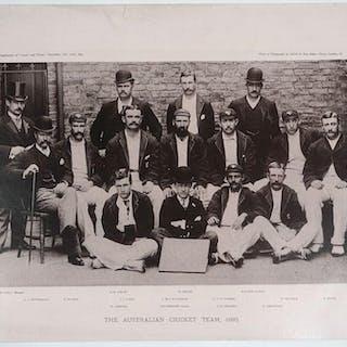 """The Australian Cricket Team, 1893"". Team photograph Elliott & Fry"
