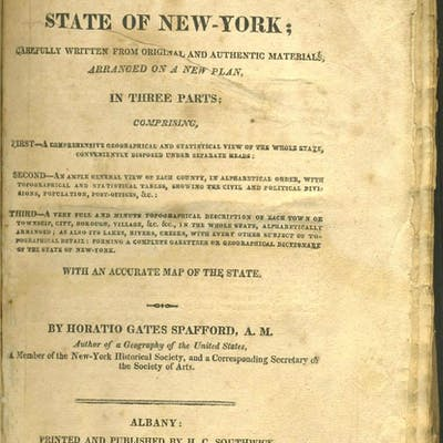 A Gazetteer of the State of New York; Carefully Written...