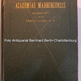 Catalogus professorum academiae Marburgensis