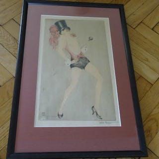 Chanson, Tänzerin. ohne, Autorenangabe: Kunst
