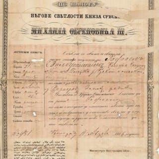 JUDAICA: Passport for Rafael Silberstein from Plozka