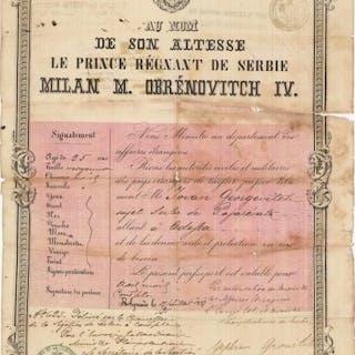 OTTOMAN EMPIRE - SERBIA -RUSSIA: Travel Documents Par...