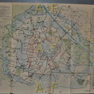 Verkehrsnetz der Städtischen Straßenbahnen (ca. 61,5 x 47 cm) N., N.: 1-VARIA
